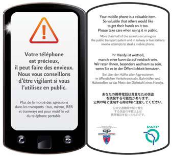 Smartphone ratp